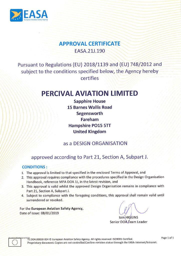 Part 21.J Certificate